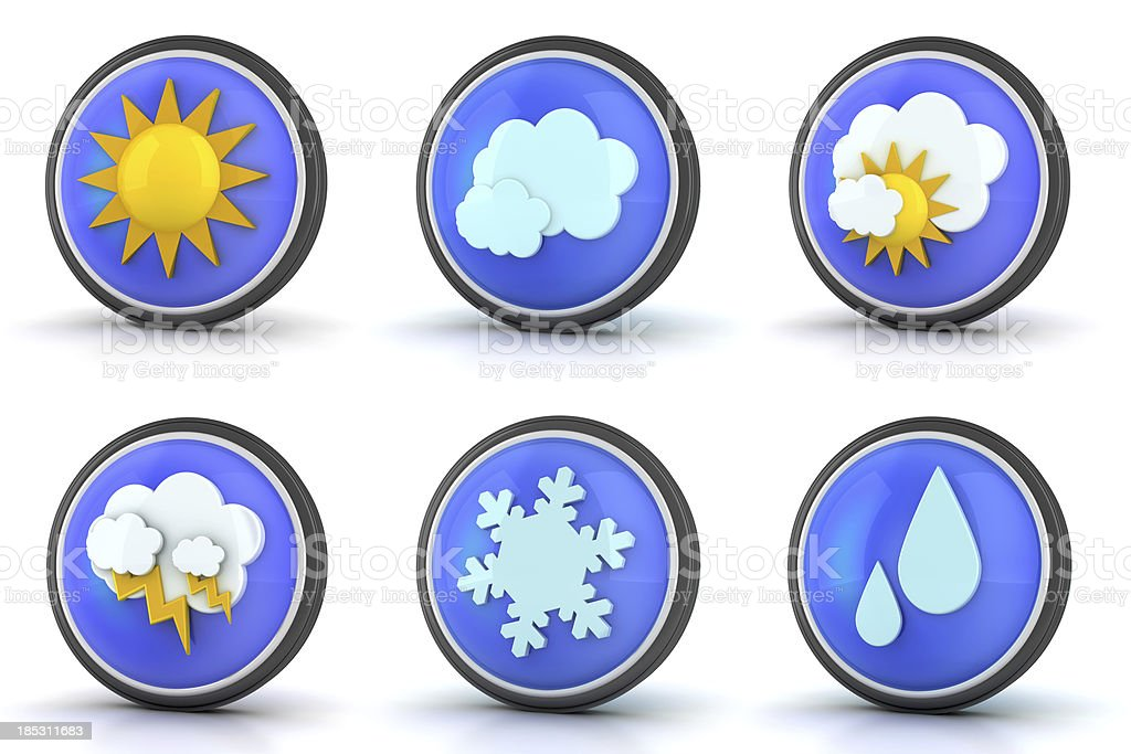 Weather Symbols royalty-free stock photo