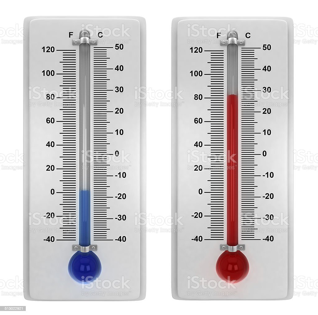 Weather thermometers stock photo