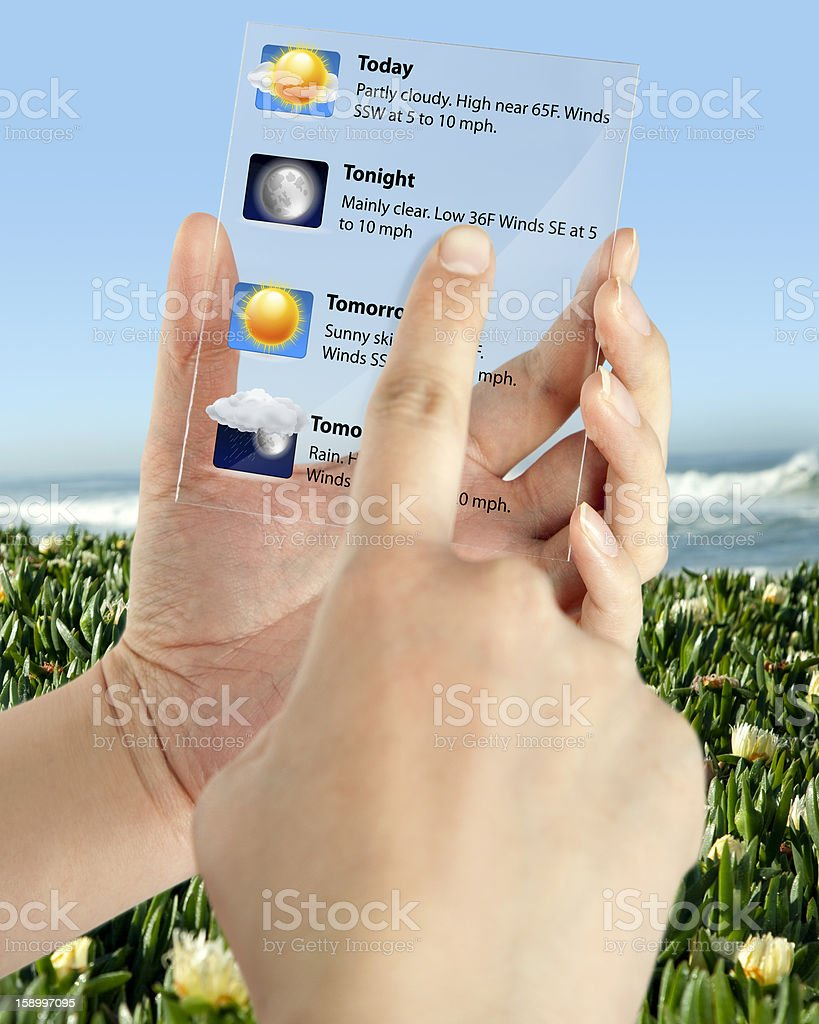 Weather Touch Screen royalty-free stock photo