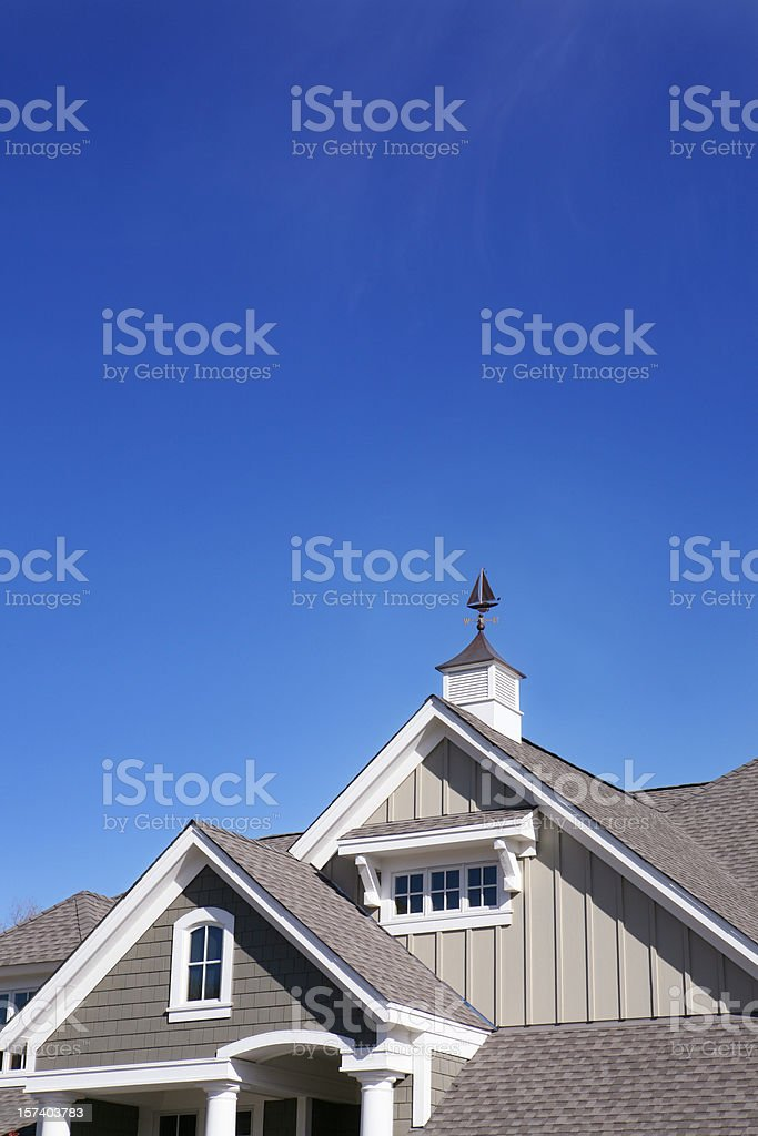 Weather Vane and Gables stock photo
