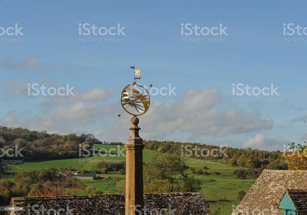 Weather Vane at Snowshill in the Cotswolds, Gloucestershire, England, UK stock photo