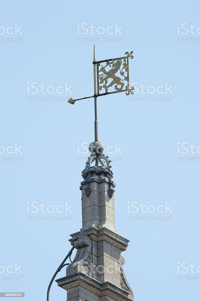 Weather vane Dutch lion ornament royalty-free stock photo