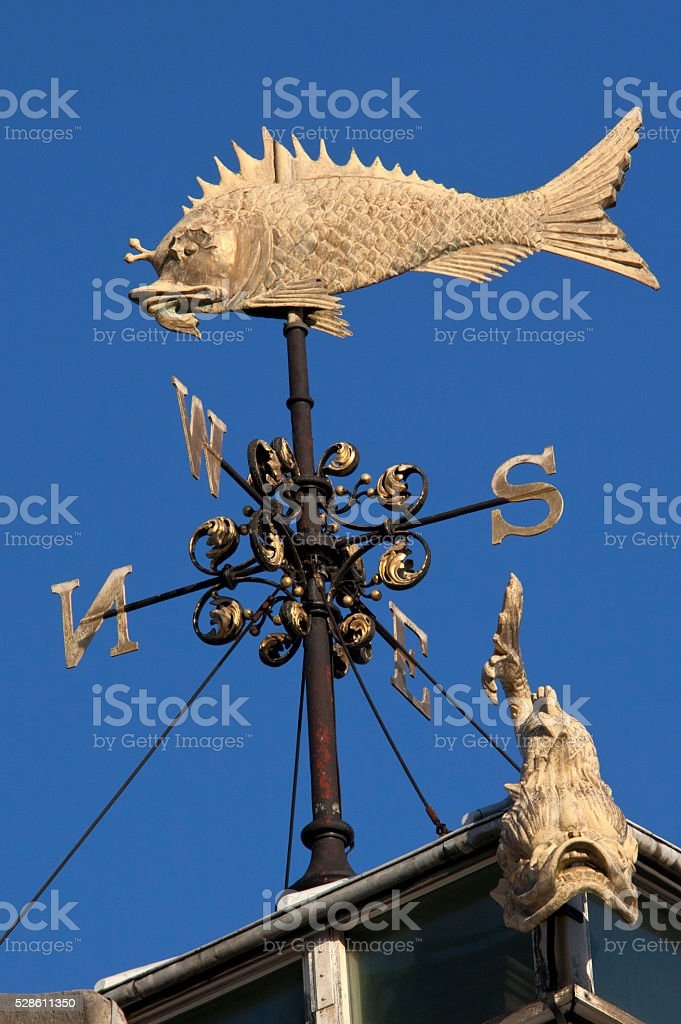 Weather Vane - Fish Market - London stock photo