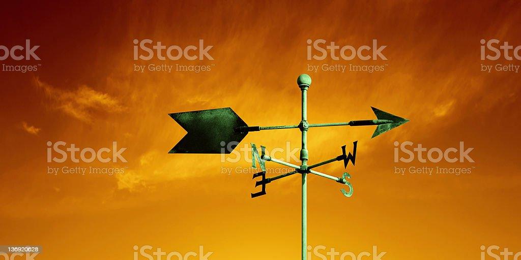 XL weather vane stock photo