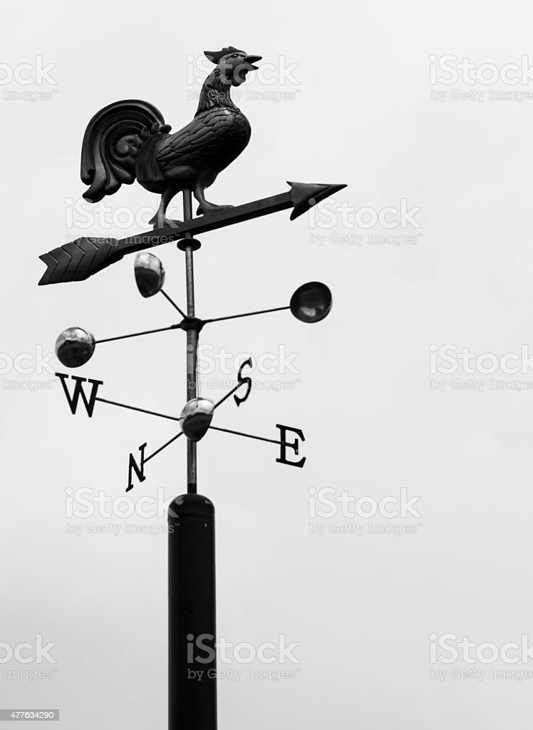 Weather Vane Pointing East stock photo