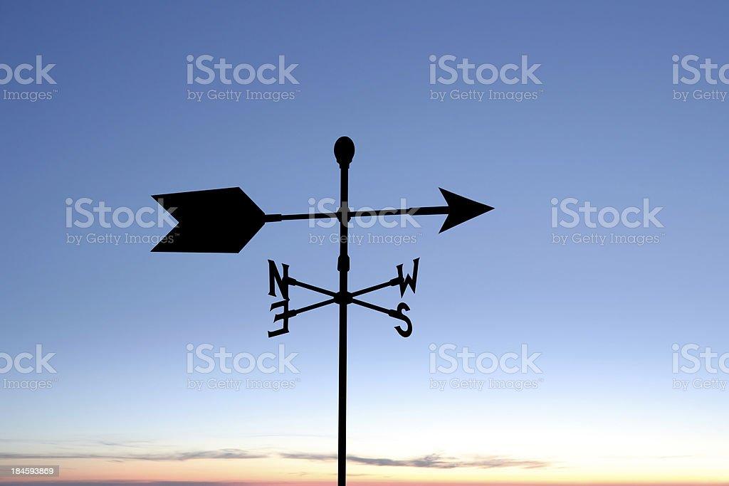 XXL weather vane silhouette stock photo