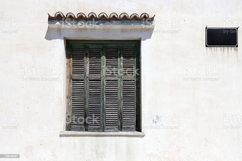 Weather window shutters royalty-free stock photo