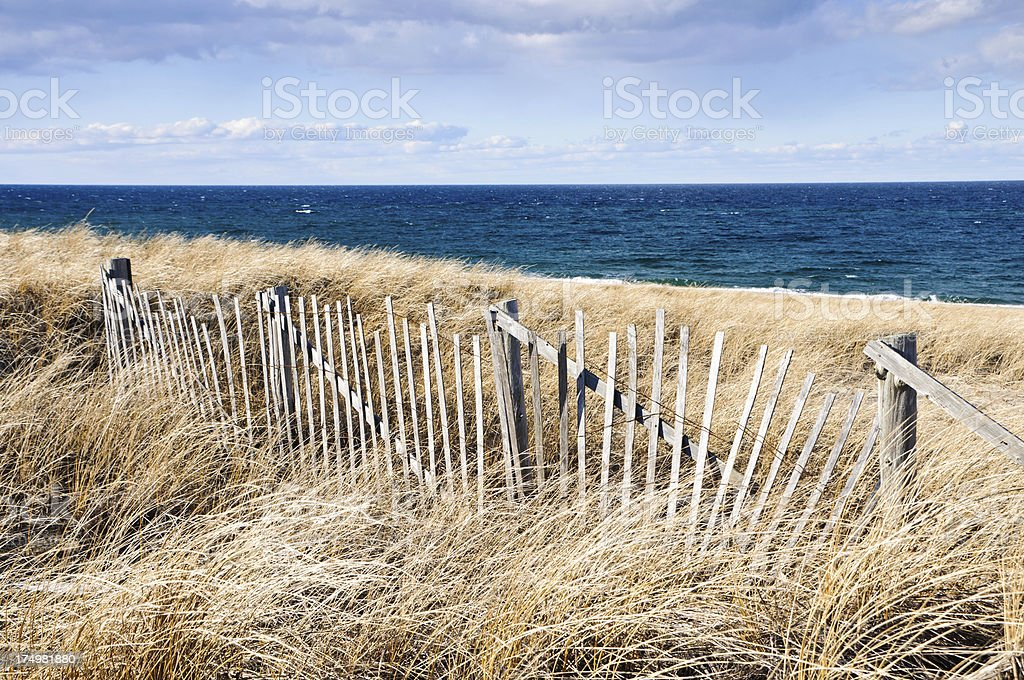 Weather Worn Fence royalty-free stock photo