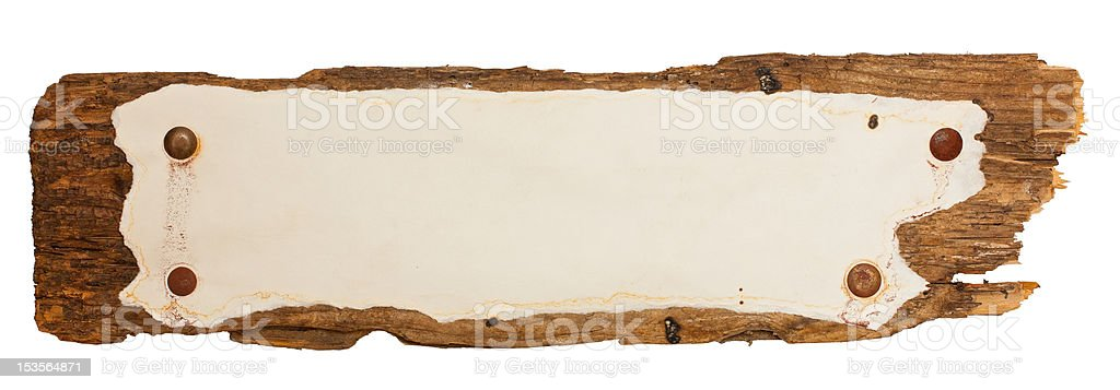 Weather-beaten old sign royalty-free stock photo