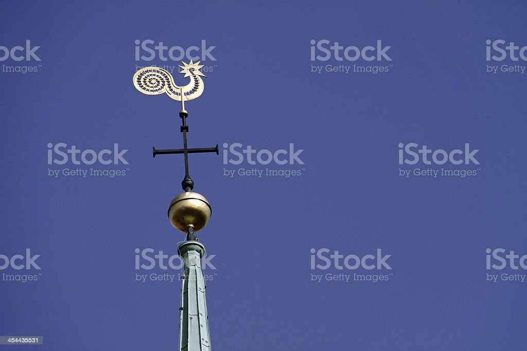 Weathercock of the Minden cathedral stock photo
