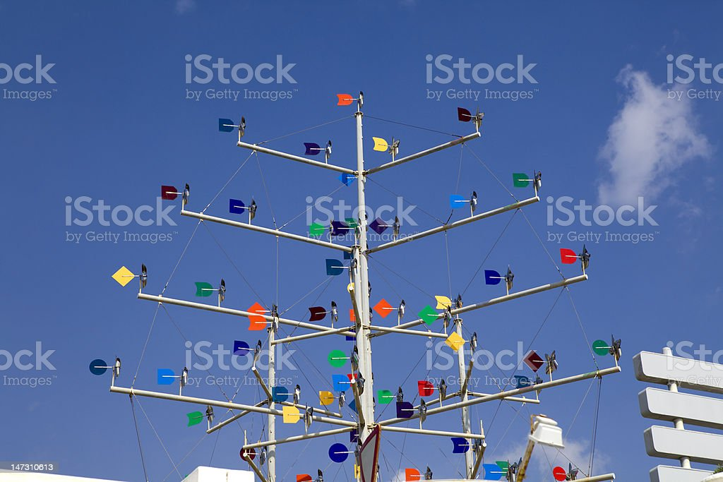 weathercock opposite blue sky royalty-free stock photo