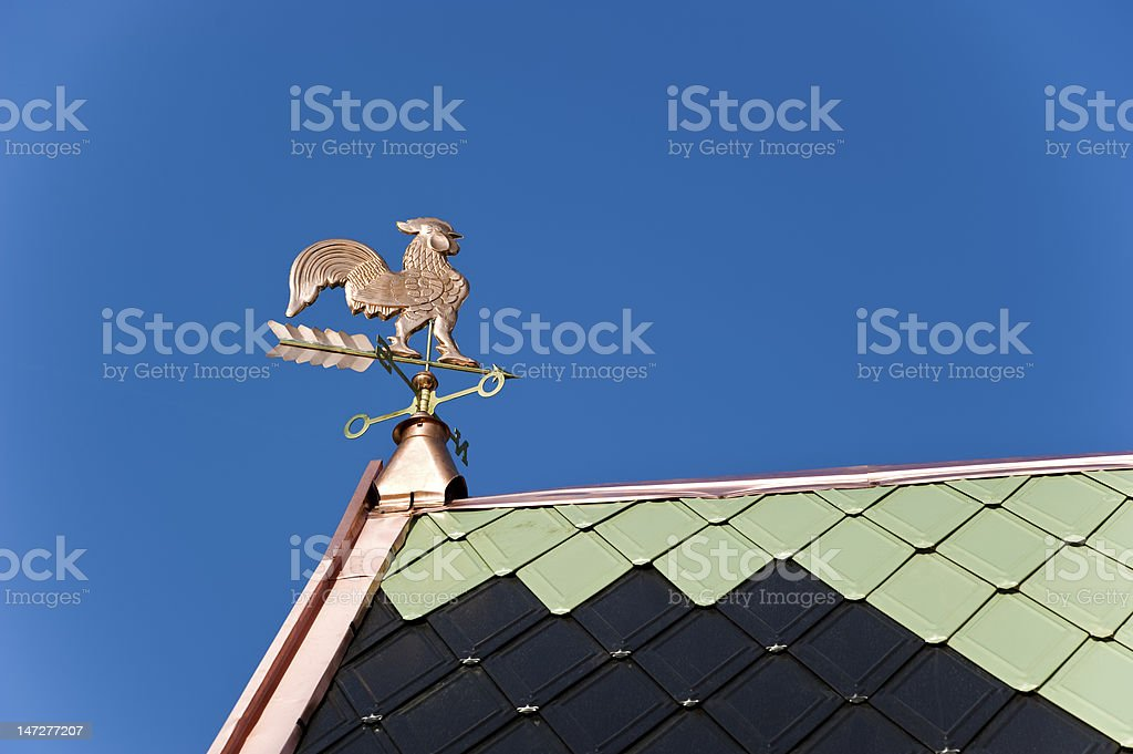 Weather-cock royalty-free stock photo