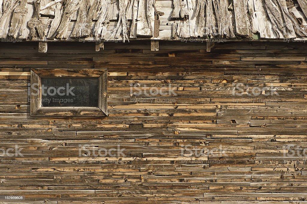 Weatherd Barn and Window stock photo