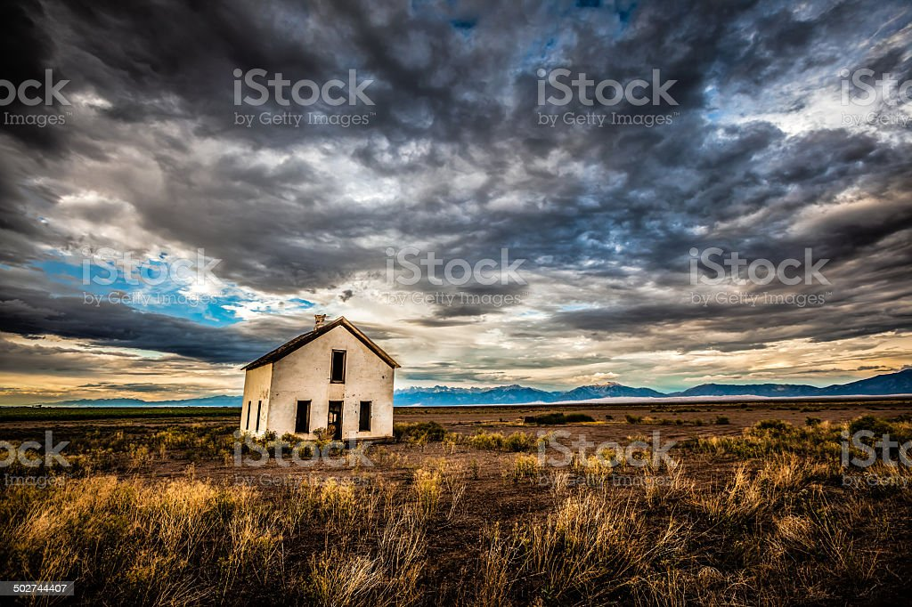 Weathered and Abandoned Home in Southwest Colorado royalty-free stock photo
