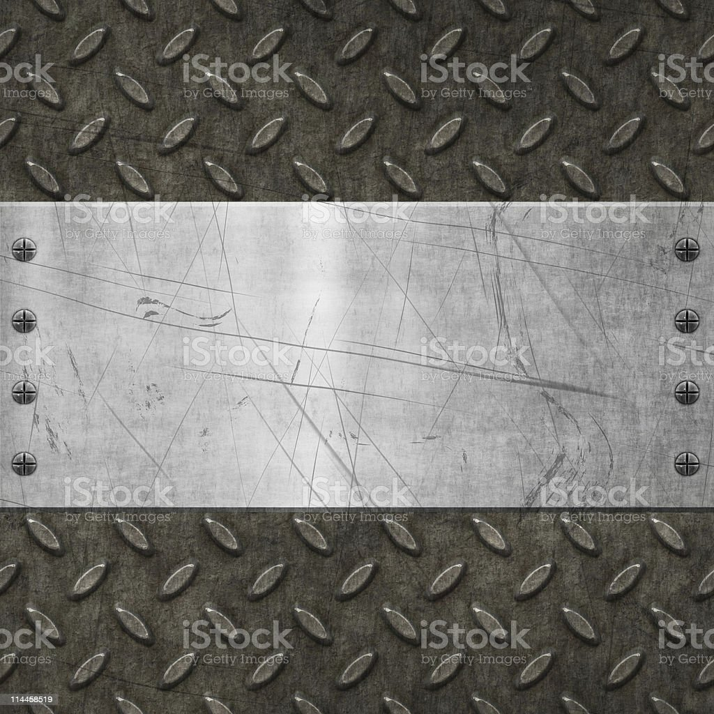 Weathered and beaten blaring metal background royalty-free stock photo