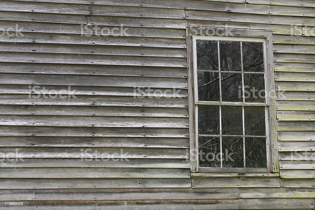 weathered and rustic wood siding stock photo