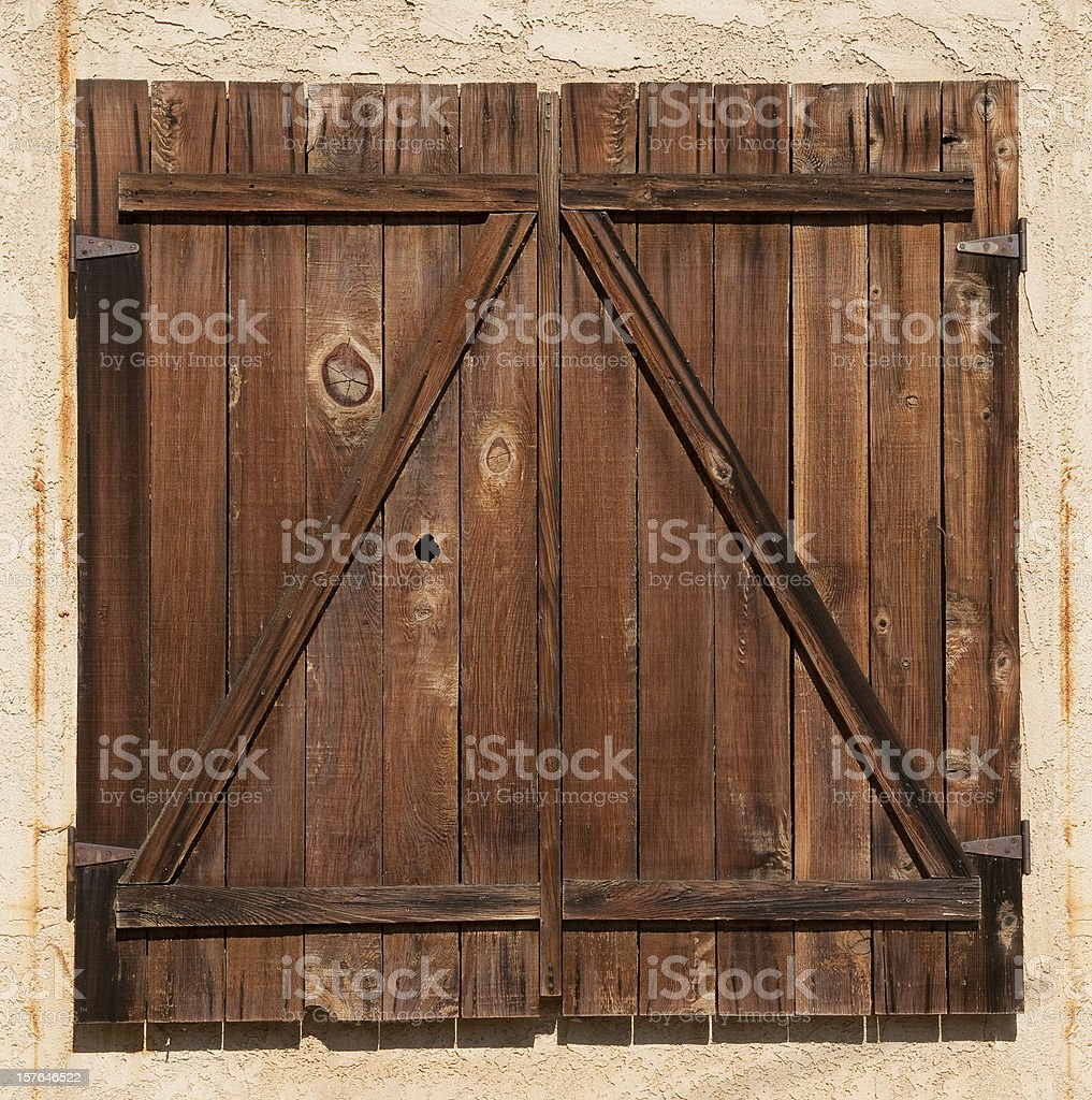 Weathered Barn Door stock photo