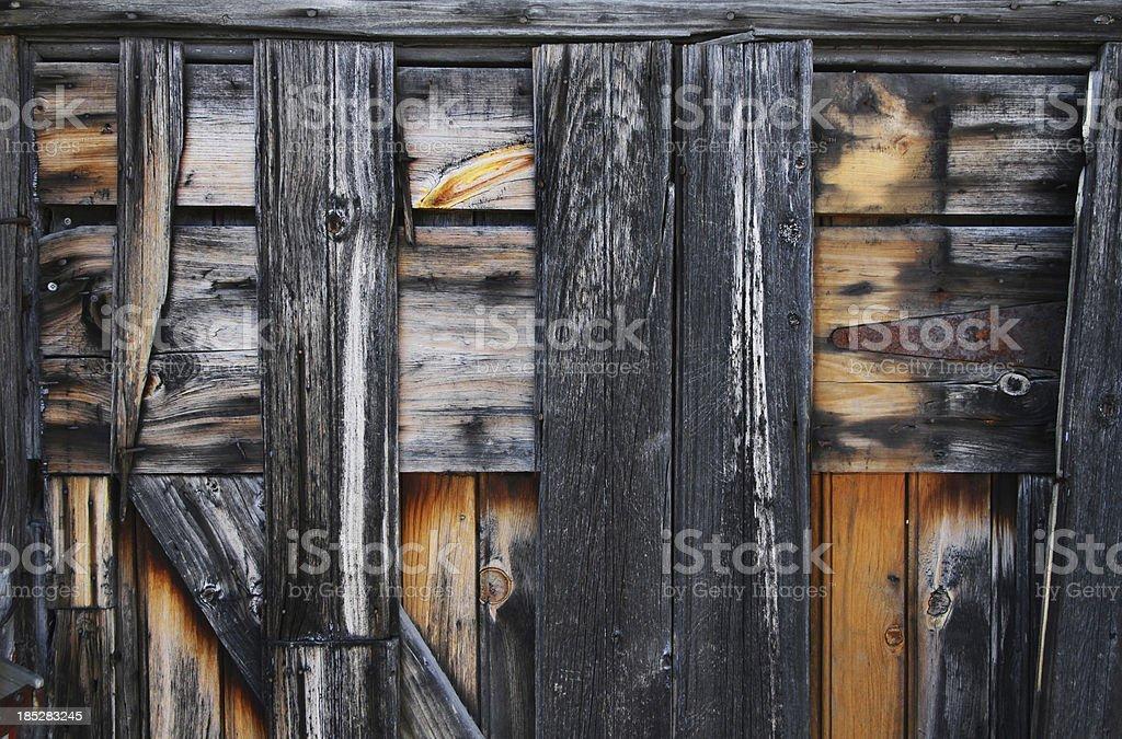 Weathered Barnboard background stock photo