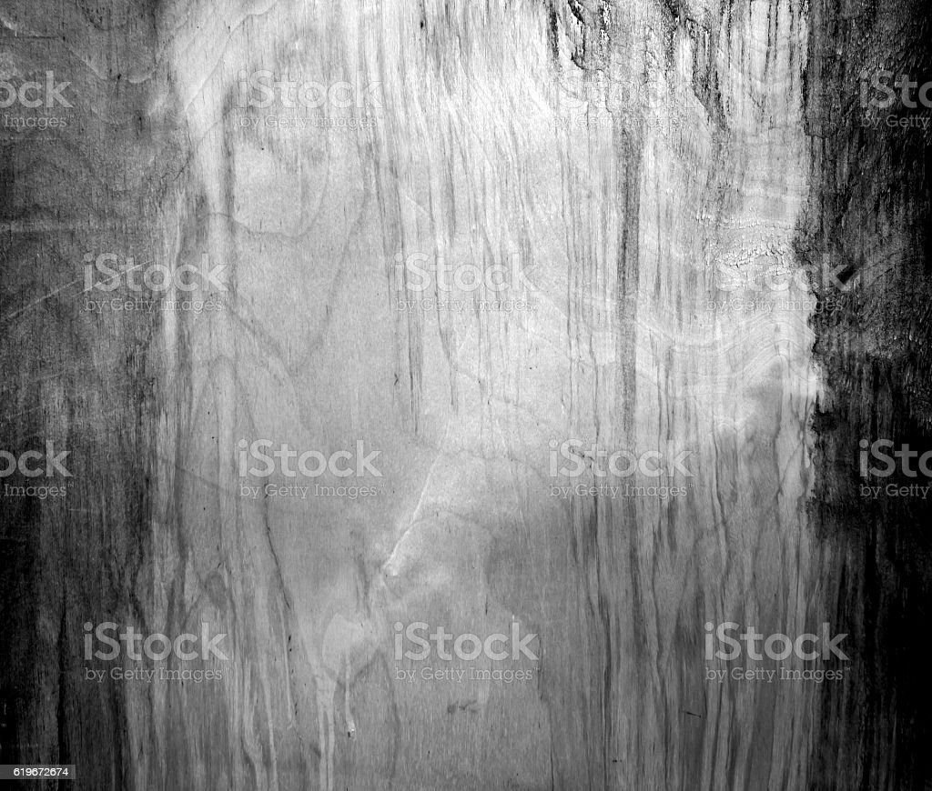 Weathered black and white fiberboard texture. stock photo