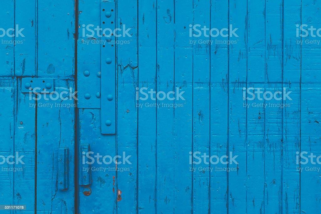 weathered blue timber background. stock photo