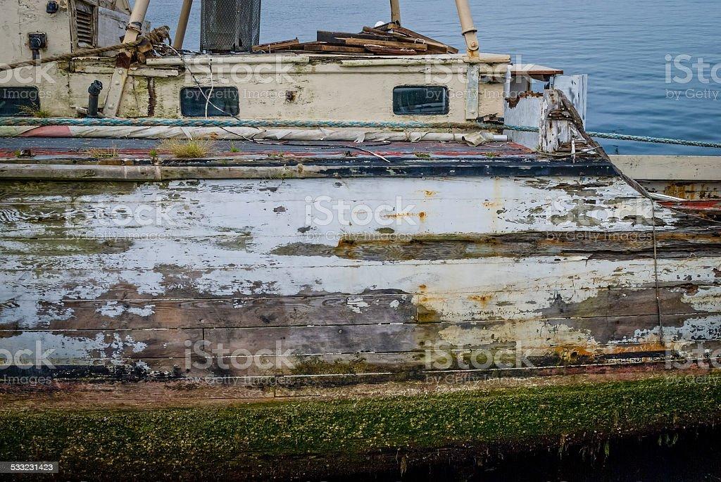 Weathered Boat stock photo