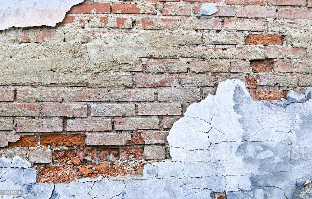weathered brick wall royalty-free stock photo