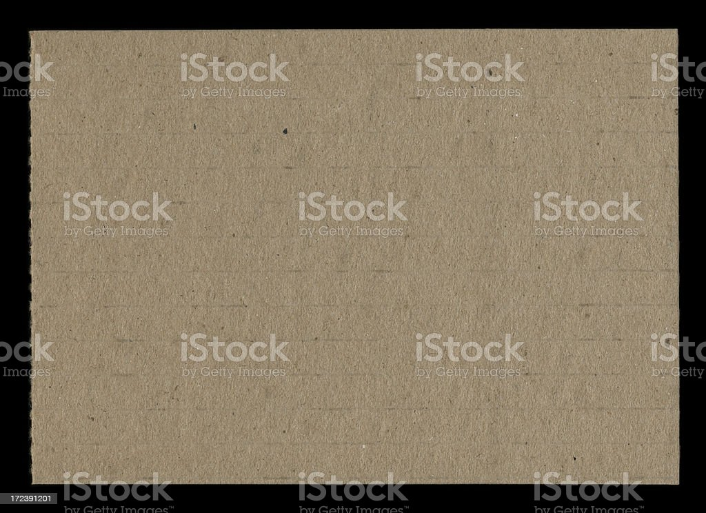 weathered cardstock on black royalty-free stock photo