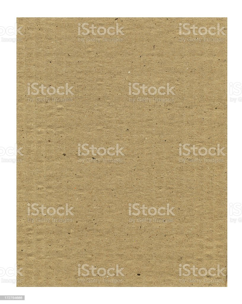 weathered cardstock on white royalty-free stock photo