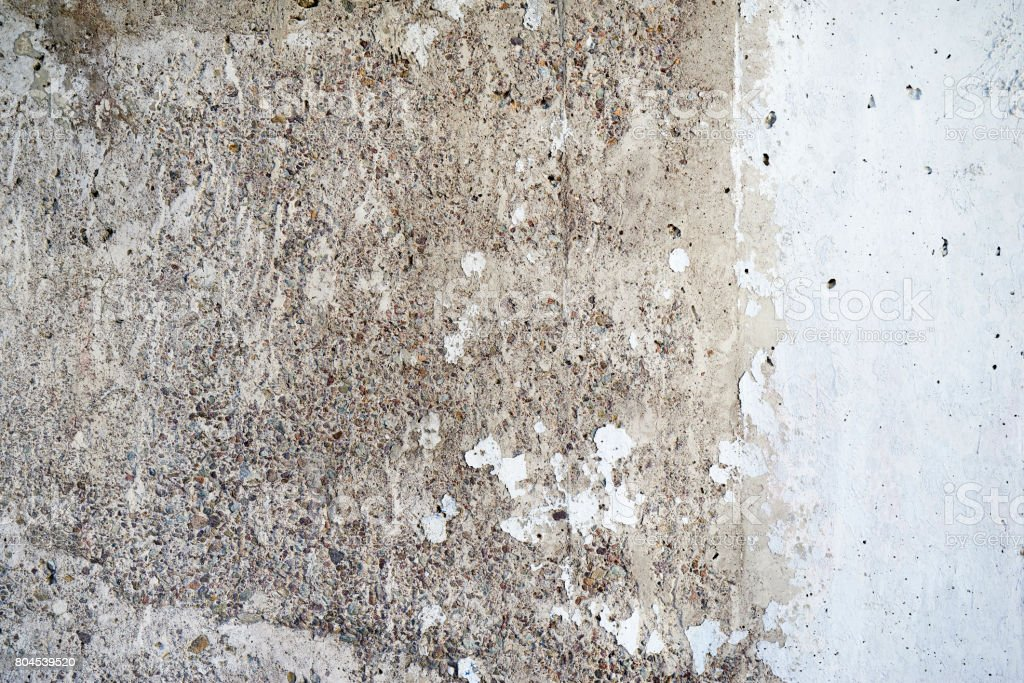 Weathered concrete with paper stock photo