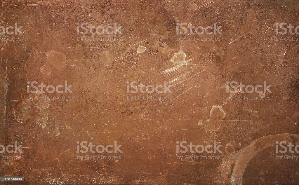 Weathered copper background stock photo