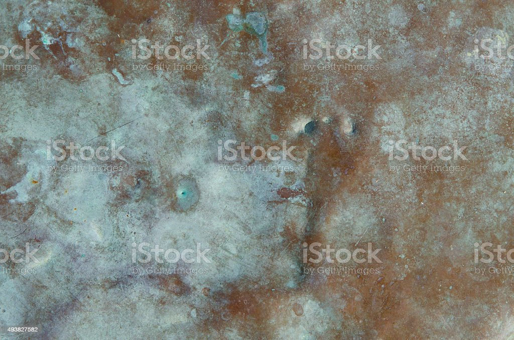 weathered copper with patina stock photo