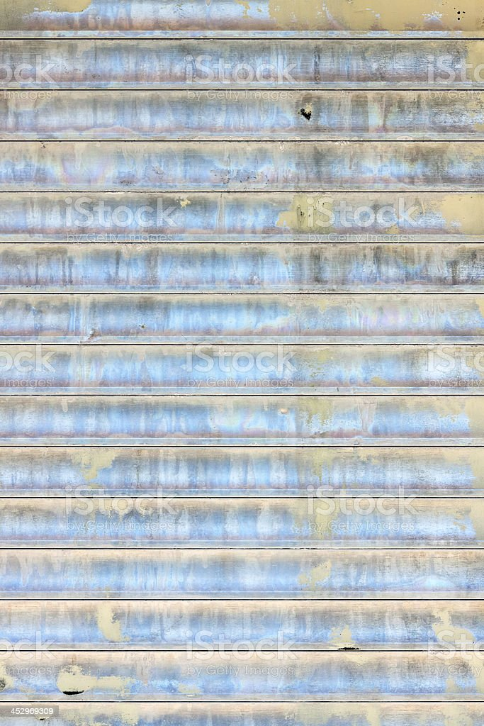 Weathered corrugated iron wall background, copy space royalty-free stock photo