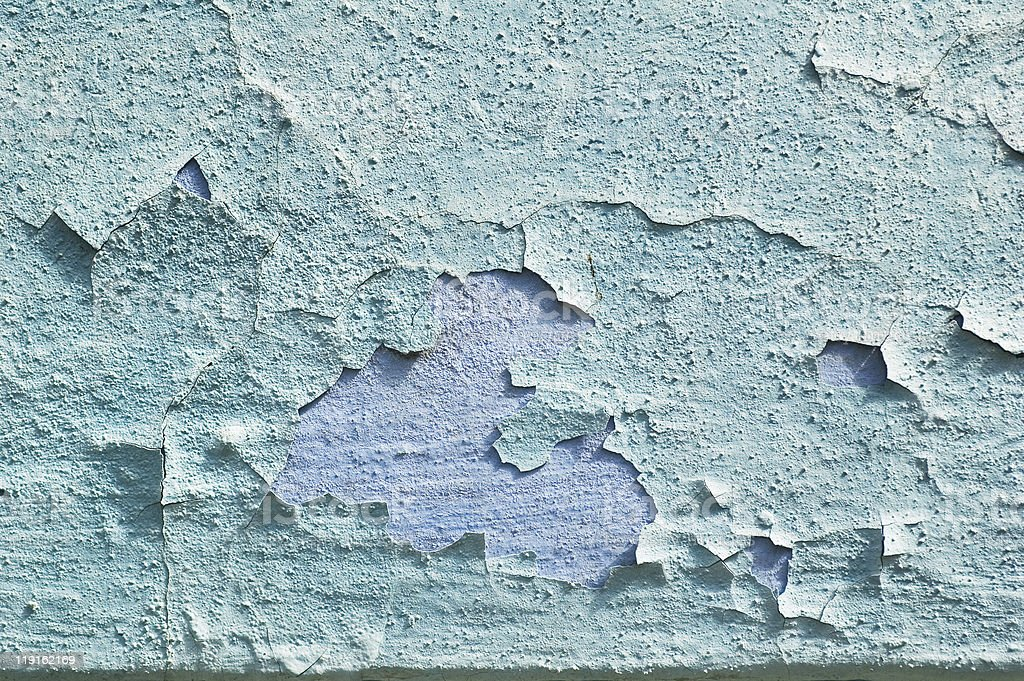 Weathered damaged old painted wall stock photo