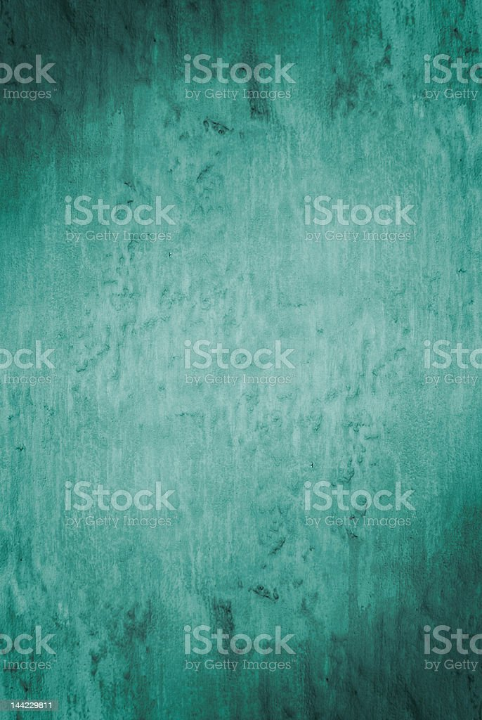 Weathered deep blue green teal organic wall texture royalty-free stock photo