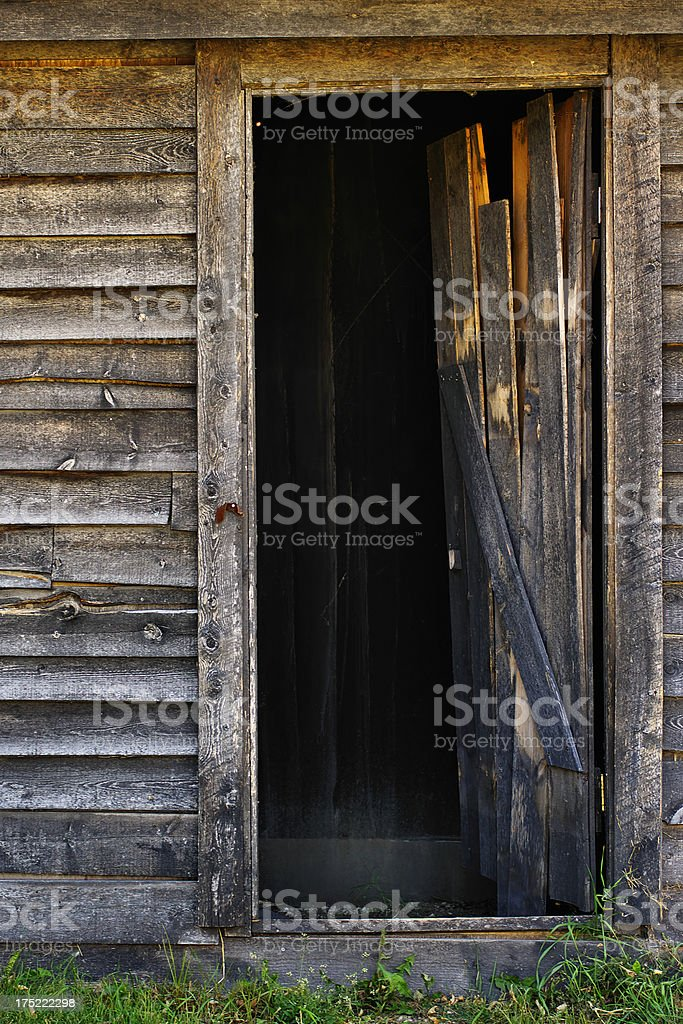 Weathered Doorway royalty-free stock photo