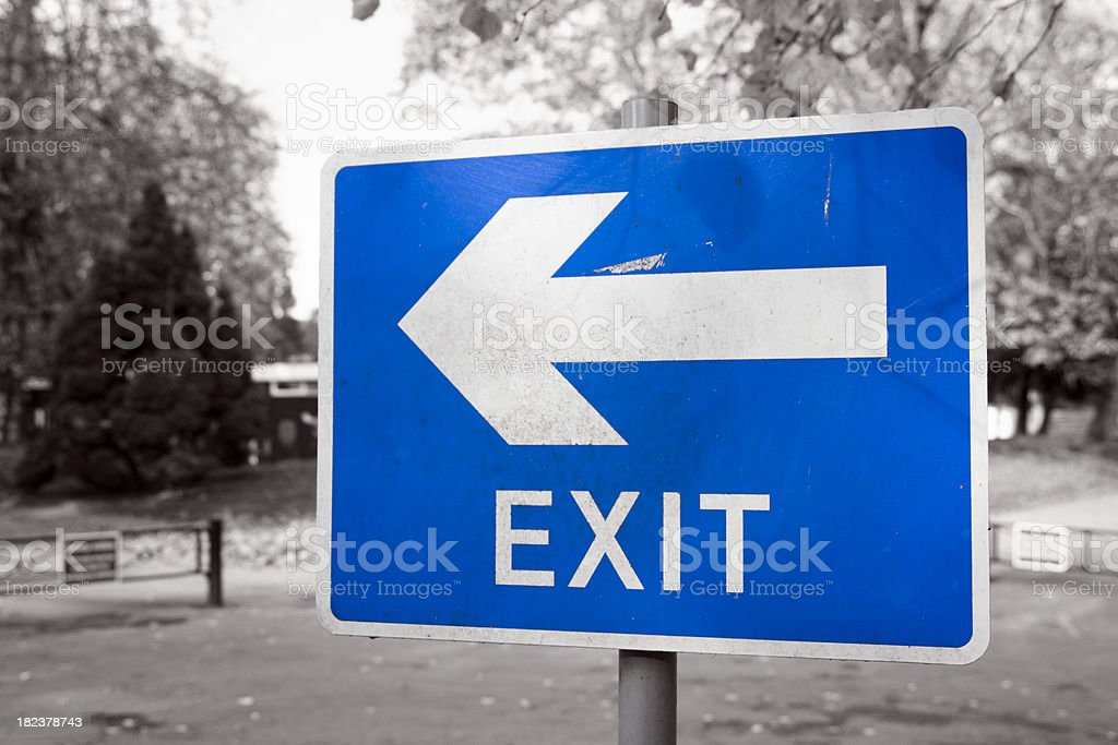 Weathered exit sign royalty-free stock photo