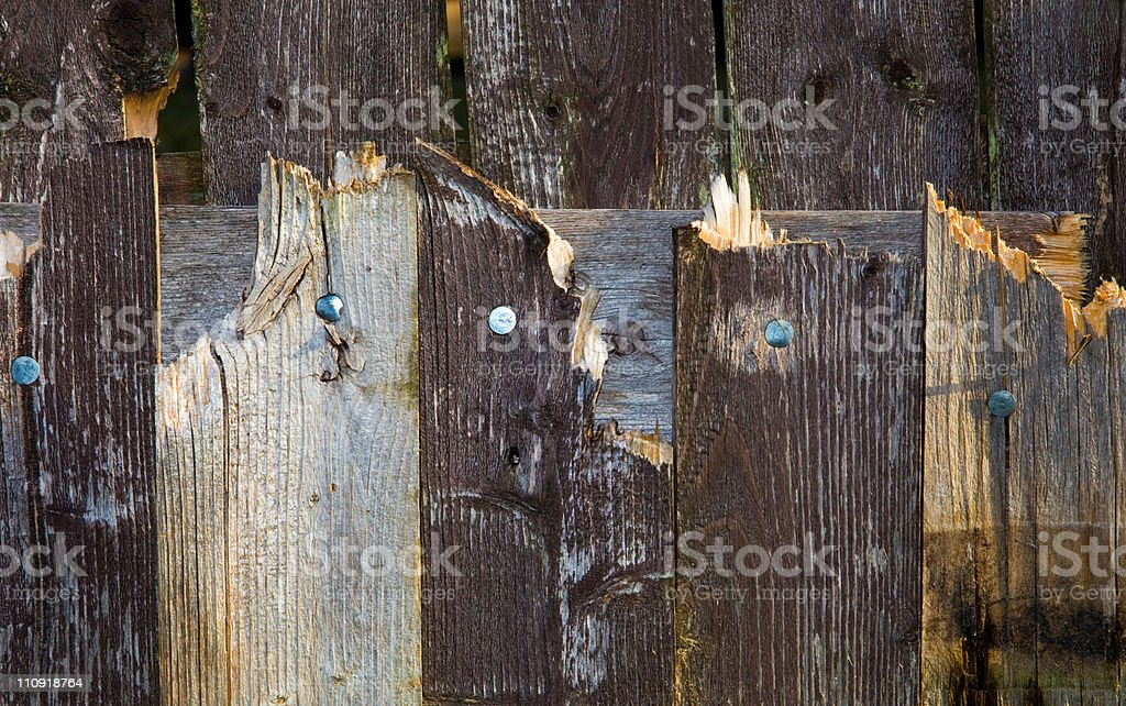 Weathered Fence royalty-free stock photo