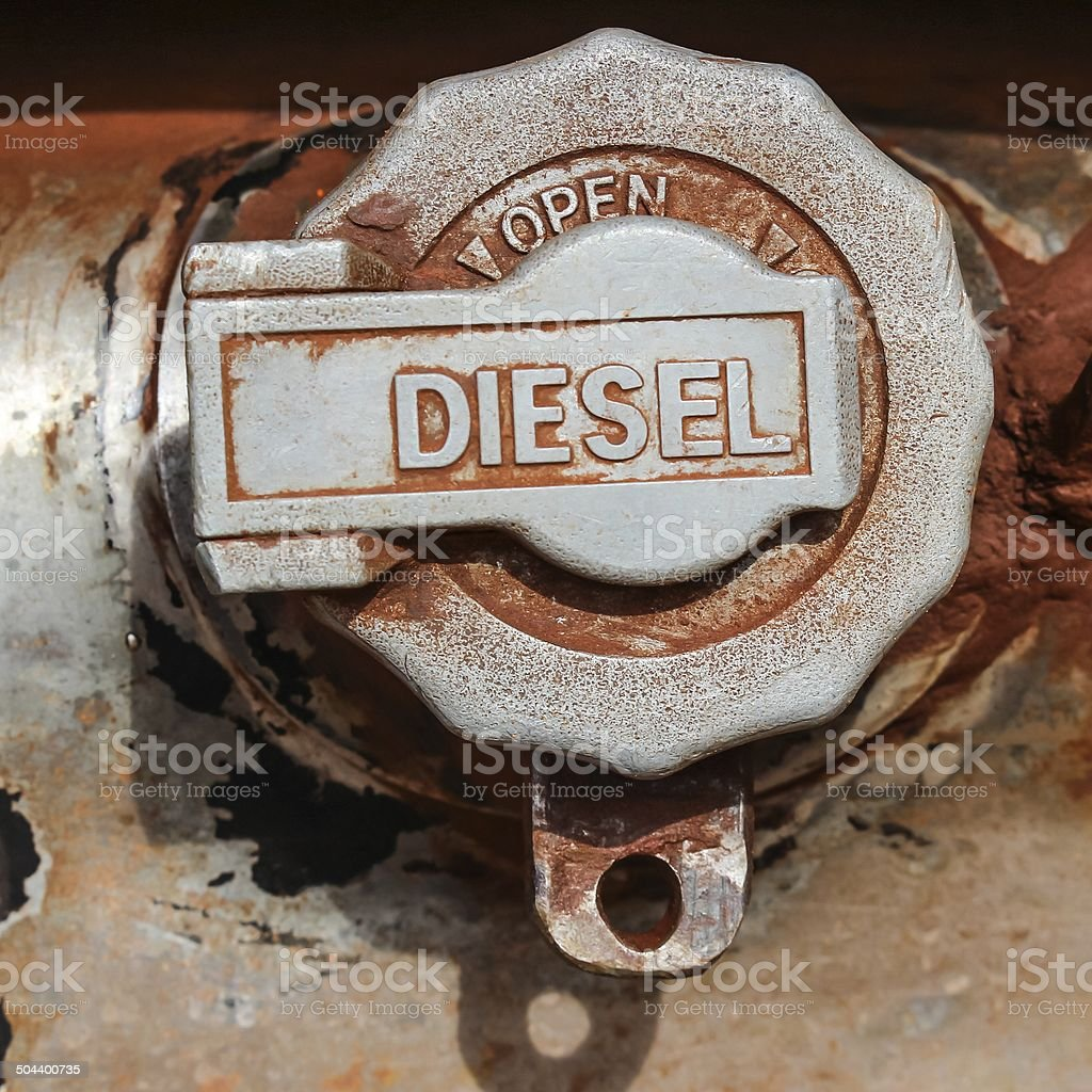Weathered fuel cap royalty-free stock photo