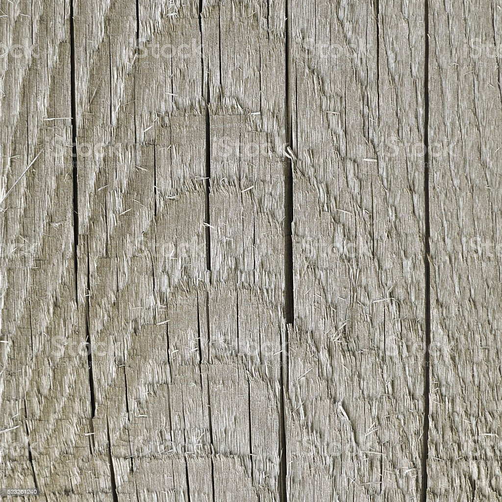 Weathered Grey Tan Taupe Sepia Wooden Board, Cracked Wood Background stock photo