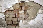 weathered grunge ruined wall background.