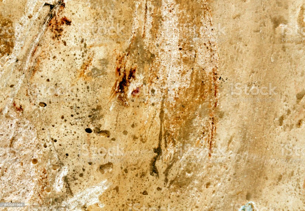 Weathered grungy orange cement wall texture. stock photo