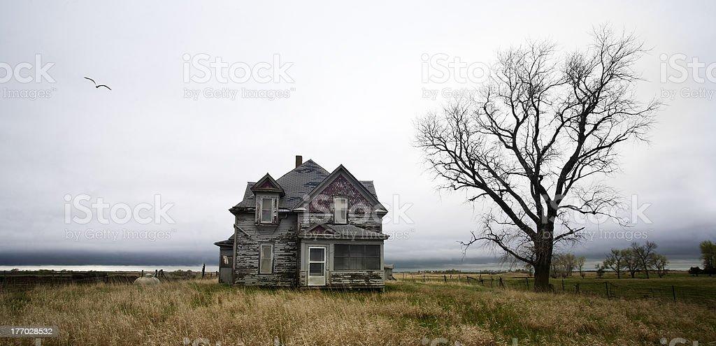 Weathered Homestead stock photo