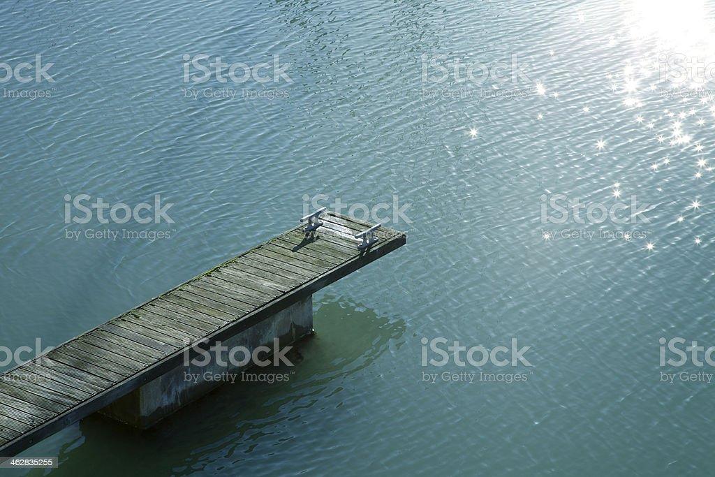 Weathered jetty stock photo