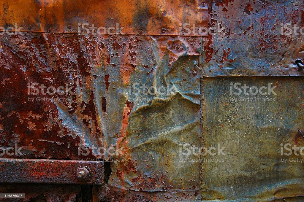 Weathered Metal royalty-free stock photo