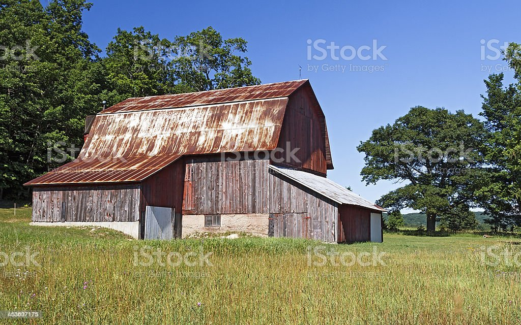 Weathered Old Barn royalty-free stock photo