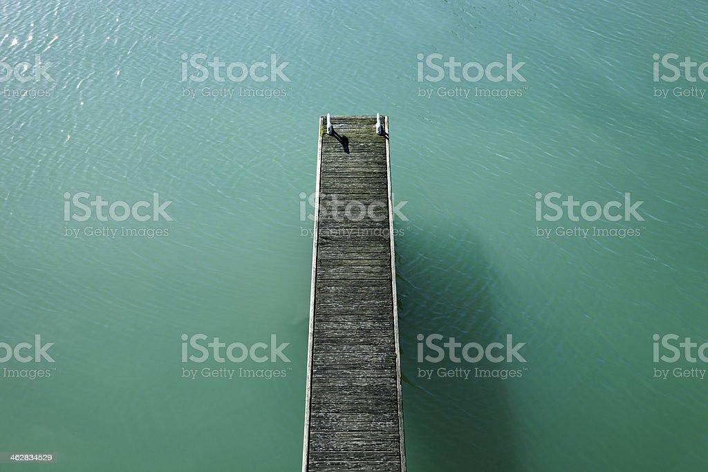 Weathered pontoon stock photo