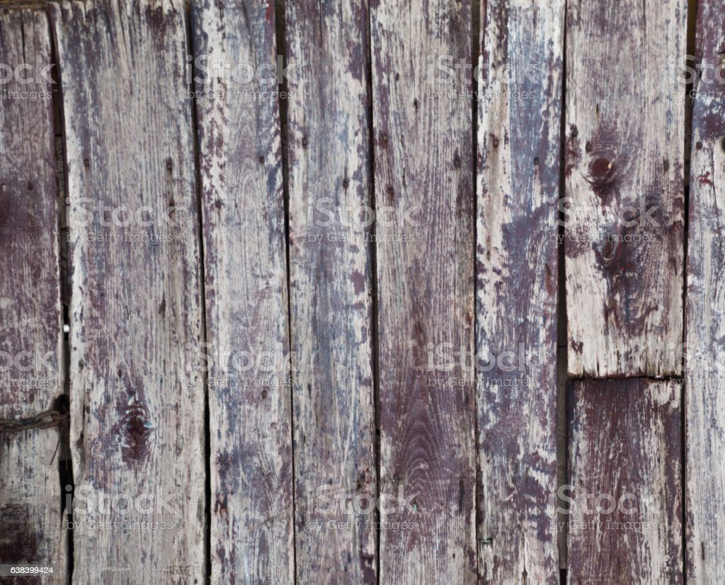 Weathered red painted wooden boards background stock photo