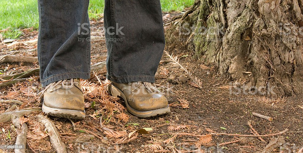 weathered shoes royalty-free stock photo