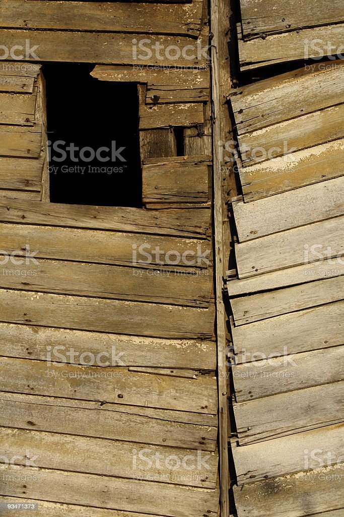 weathered siding stock photo