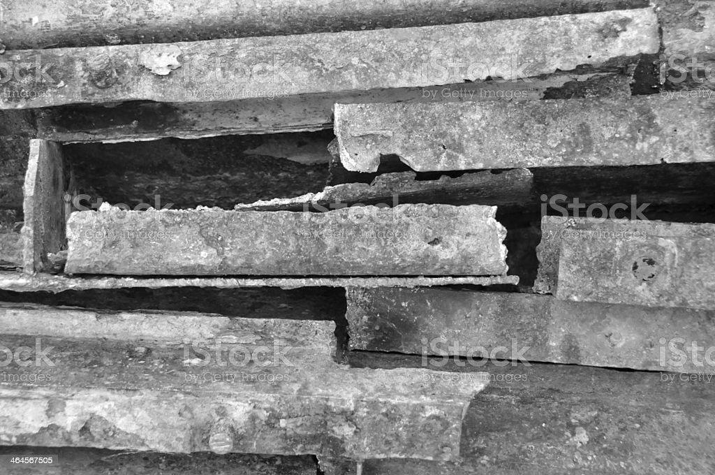 Weathered steel abstract royalty-free stock photo